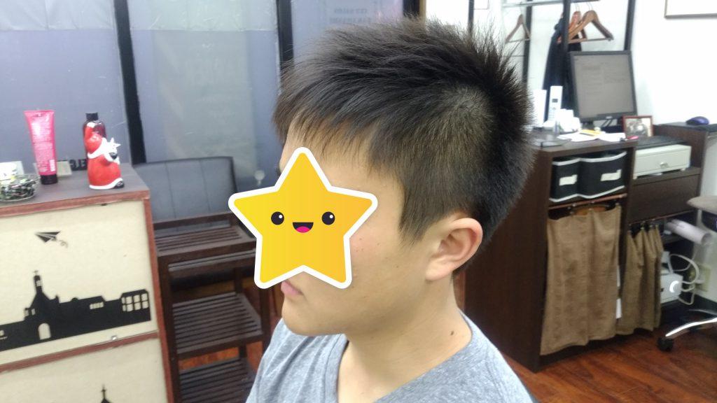 綾瀬駅理容室の高校生ベリーショートスタイル