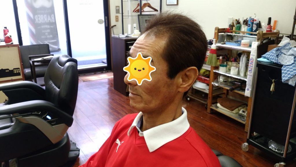 綾瀬駅メンズサロンのグレイヘアースタイル