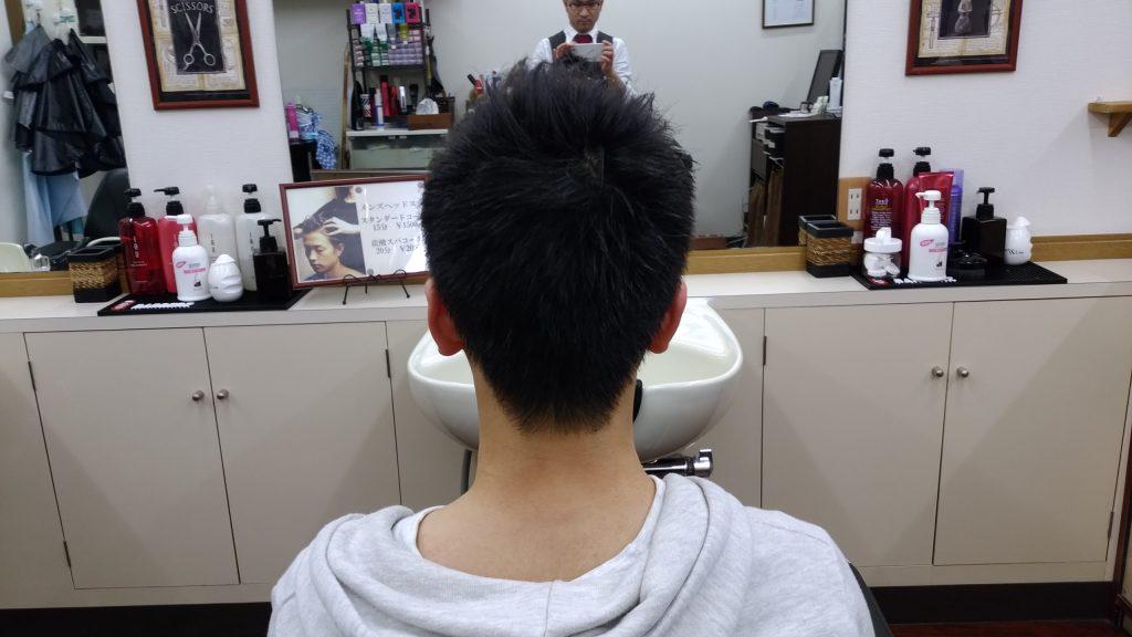 綾瀬駅メンズサロンの中学生カット