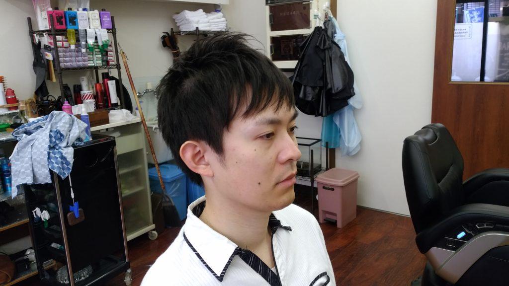 綾瀬駅メンズサロン束感ショートスタイル