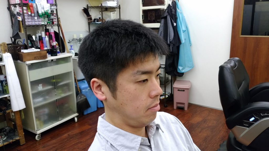 綾瀬駅理容室メンズカット・ビジネスショートスタイル!