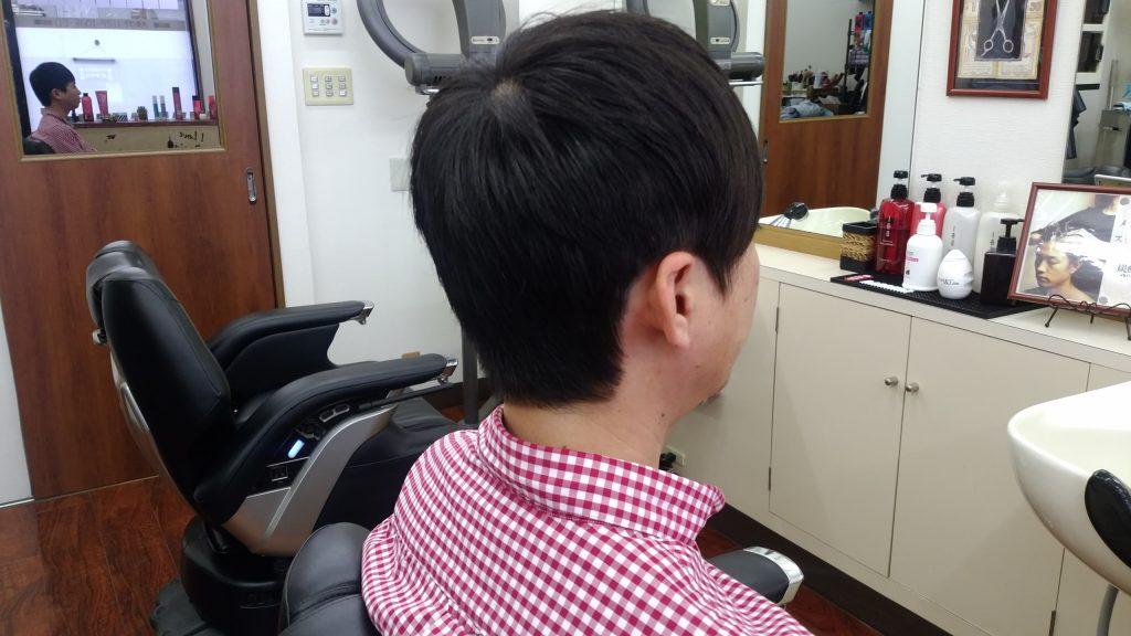 綾瀬駅理容室メンズカット・ビジネスアシンメトリースタイル