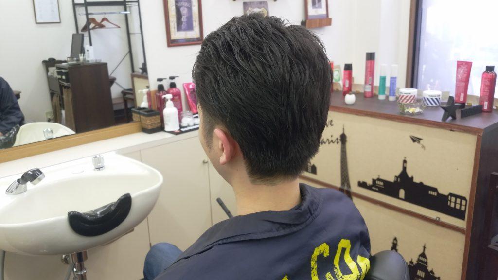 綾瀬駅理容室・メンズカット2ブロックスタイル!