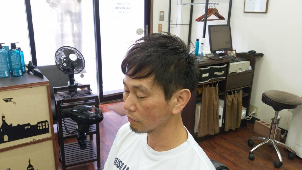 綾瀬駅理容室メンズカット・束感ショートスタイル!