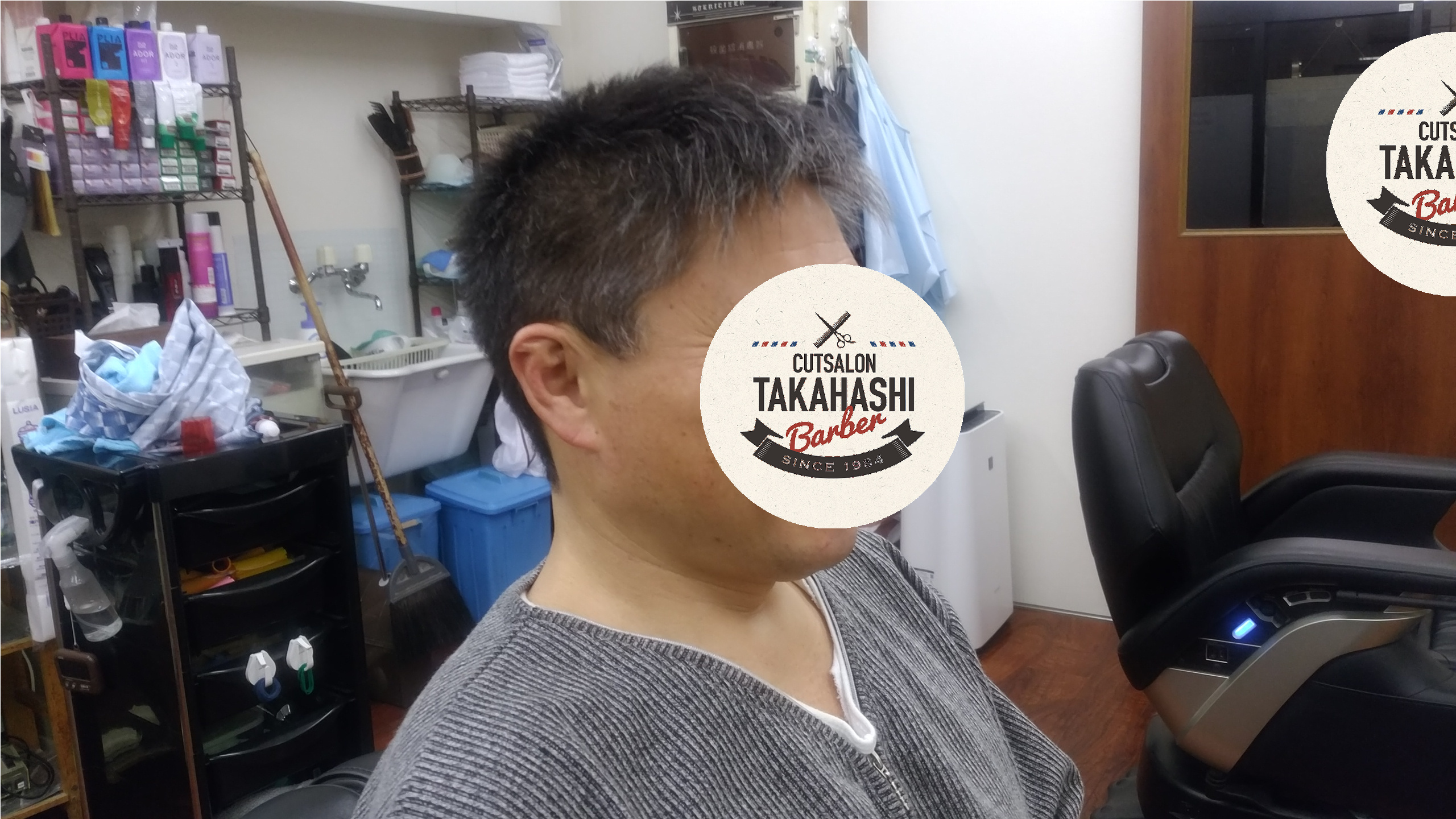 綾瀬駅メンズサロン・アップバングスタイル!