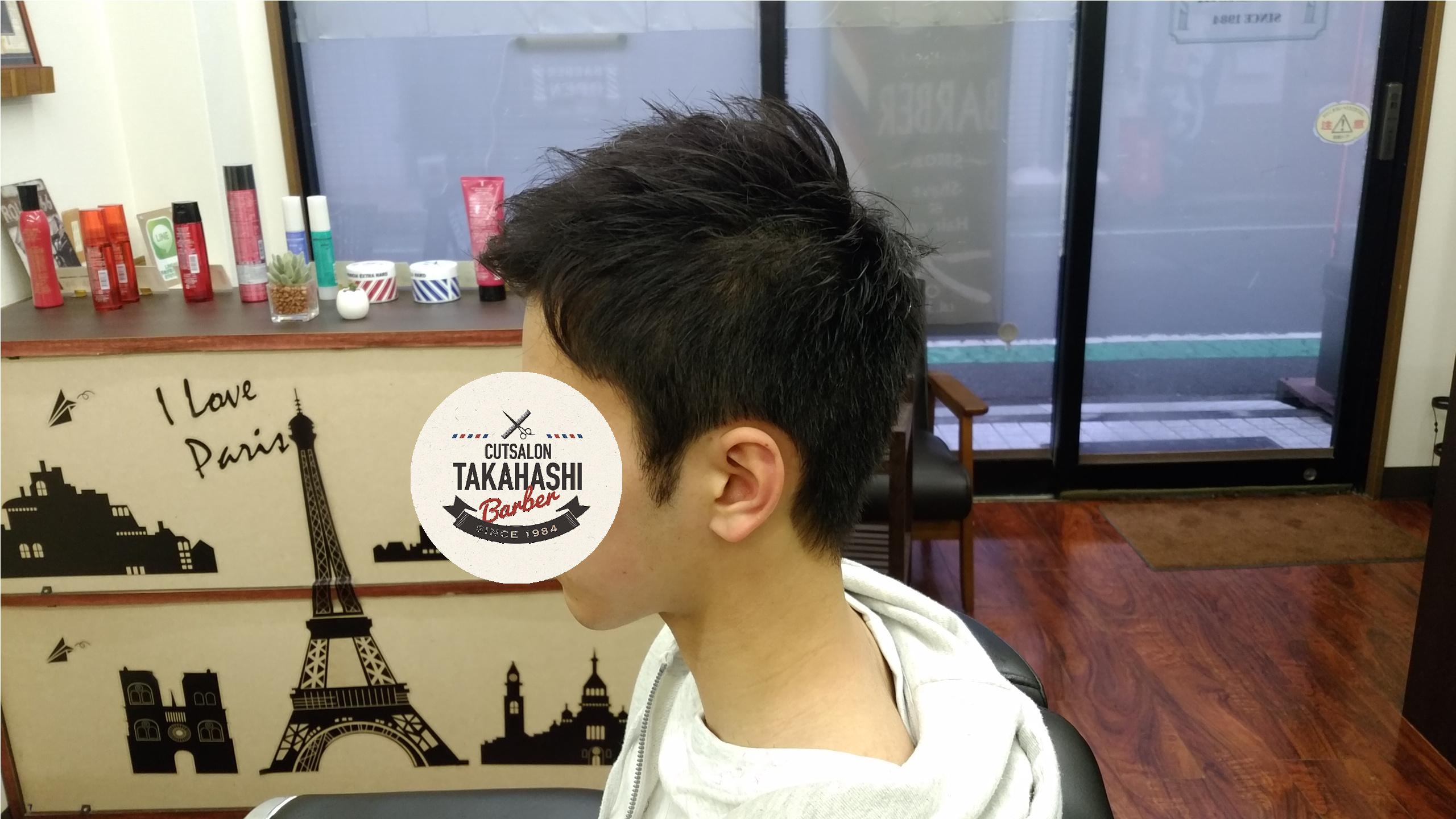 綾瀬駅理容室 メンズ中学生アップバングスタイル